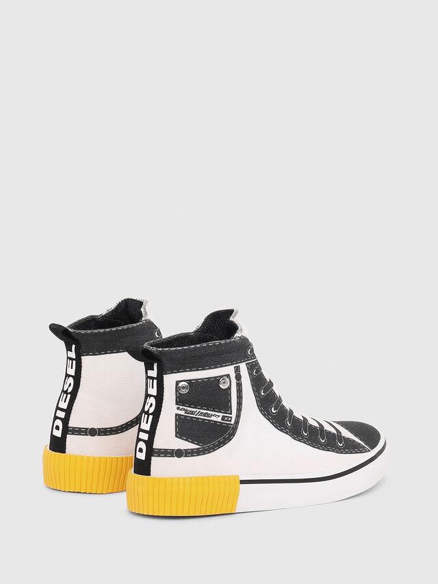 Diesel - SN MID 08 GRAPHIC CH, Blanc/Noir - Footwear - Image 3