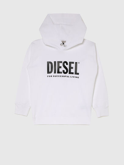 Diesel - SDIVISION-LOGOX OVER, Blanc - Pull Cotton - Image 1