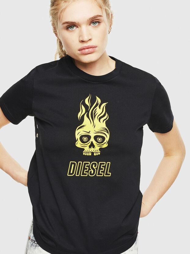 T-SILY-WQ, Noir/Jaune - T-Shirts