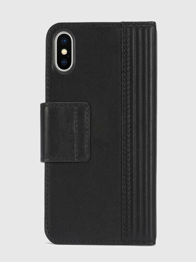 Diesel - BLACK LINED LEATHER IPHONE X FOLIO,  - Coques à rabat - Image 5