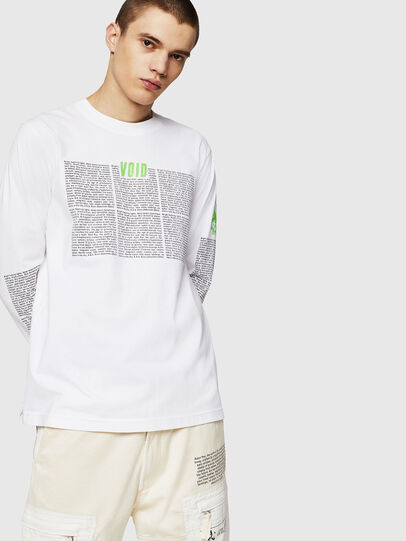Diesel - T-JUST-LS-NEW, Blanc - T-Shirts - Image 1