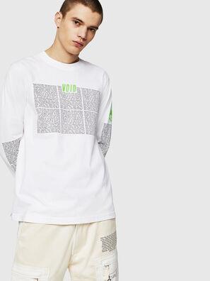 T-JUST-LS-NEW, Blanc - T-Shirts