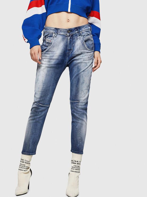 Fayza JoggJeans 0870N, Bleu moyen - Jeans