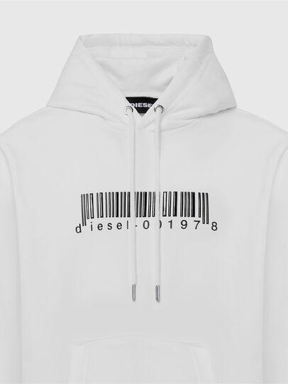Diesel - S-GIRK-HOOD-X2, Blanc - Pull Cotton - Image 3