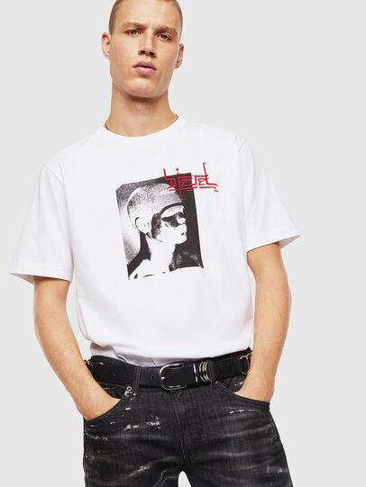 Diesel - T-JUST-J21, Blanc - T-Shirts - Image 4