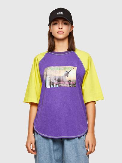 Diesel - T-SPO, Violet/Jaune - T-Shirts - Image 1