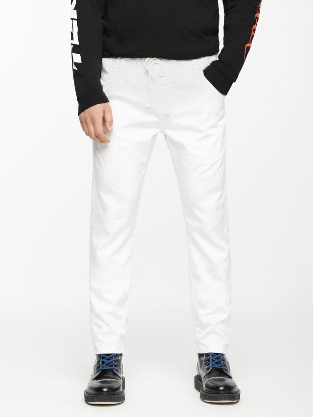 Diesel - Krooley JoggJeans 0684U, Blanc - Jeans - Image 2