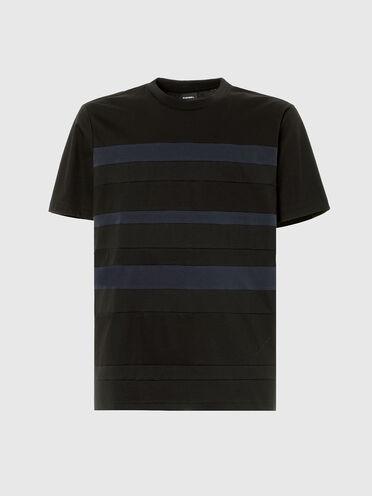 T-shirt à panneaux rayés