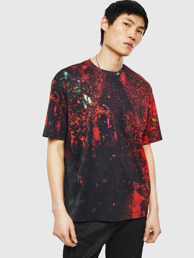 TEORIALE-D, Noir/Rouge - T-Shirts