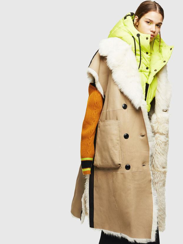 L-IRTA, Beige - Vestes de cuir