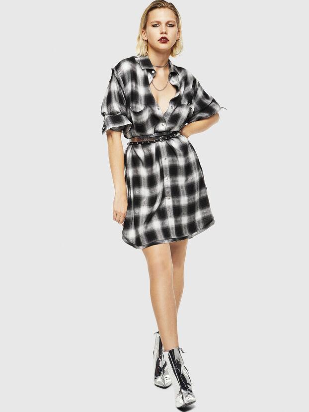 D-SUNNY-A, Noir/Blanc - Robes