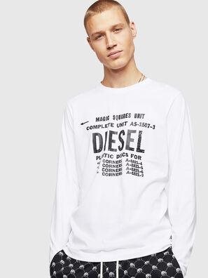 T-DIEGO-B6-LONG, Blanc - T-Shirts