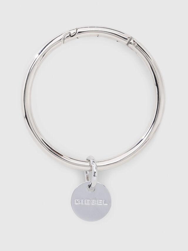 Diesel - CL-METAL BANGLE, Gris argenté - Bijoux et Gadgets - Image 1