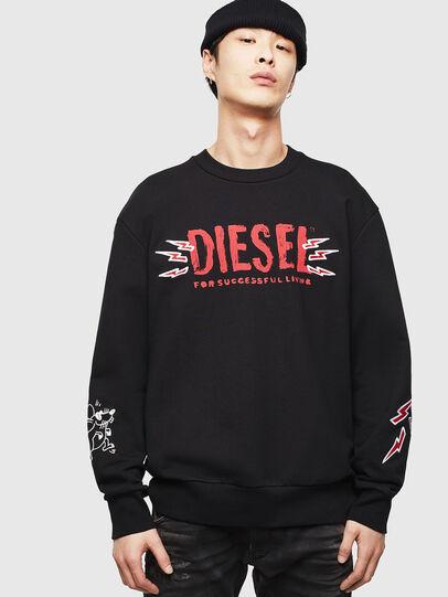 Diesel - CL-SNOR-LITMA, Noir - Pull Cotton - Image 1
