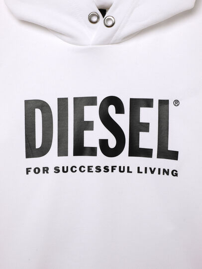 Diesel - SDIVISION-LOGOX OVER, Blanc - Pull Cotton - Image 3
