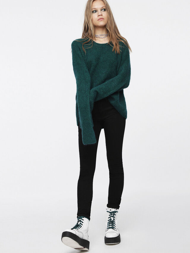 Diesel - M-ALPY, Vert Bouteille - Pull Maille - Image 4