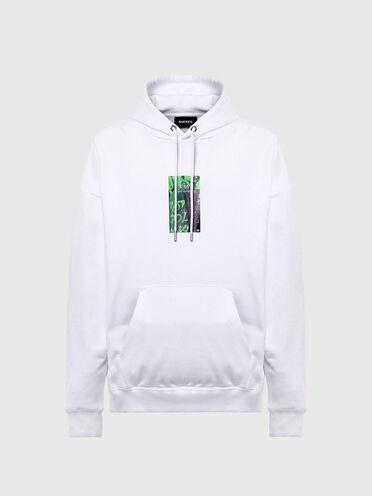 Sweat-shirt à capuche en coton avec imprimé par transfert
