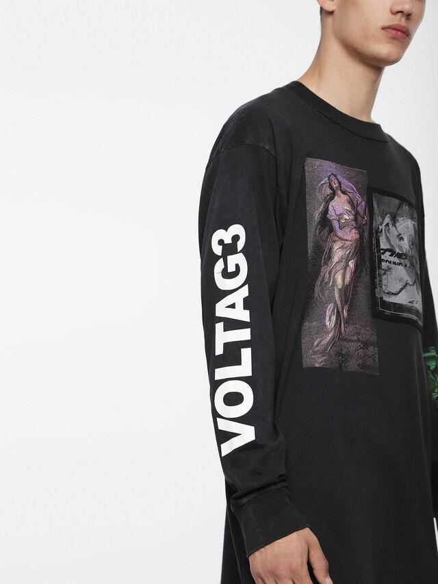 Diesel T-LUCAS-LS-XF, Noir - T-Shirts - Image 3