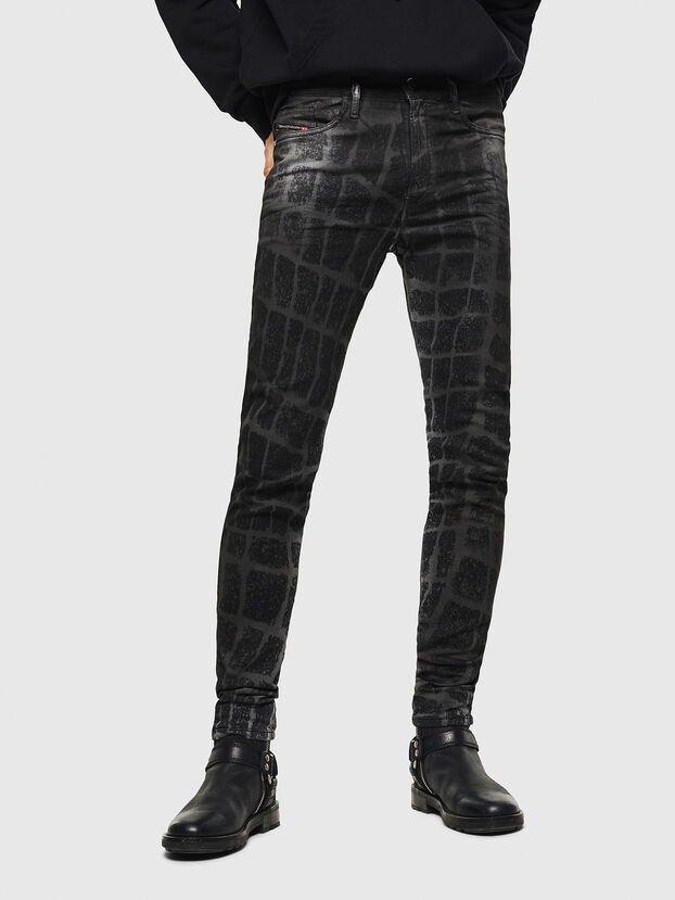 D-Reeft JoggJeans 0094M, Noir/Gris foncé - Jeans