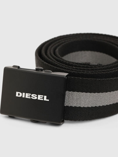 Diesel - B-PLATA, Noir/Gris - Ceintures - Image 2