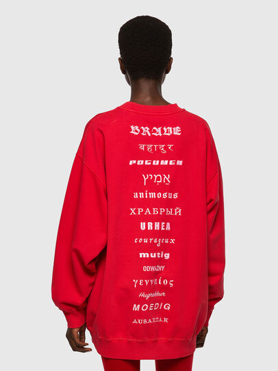 Diesel - F-EXA, Rouge - Pull Cotton - Image 2