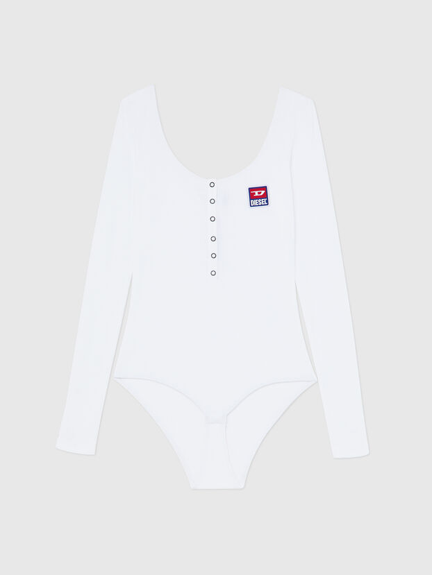 UFBY-BODYBUT-LS-C, Blanc - Bodys