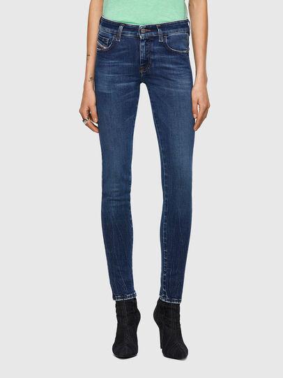 Diesel - Slandy Low 009ZX, Bleu Foncé - Jeans - Image 1