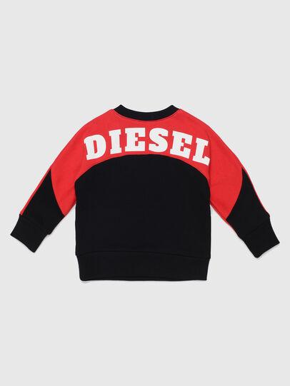 Diesel - STRICKB, Noir/Rouge - Pull Cotton - Image 2