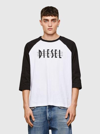 Diesel - T-BEISBOL, Blanc - T-Shirts - Image 1