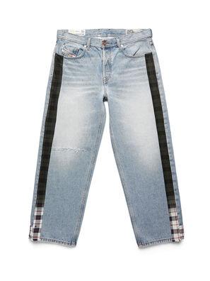 D-DEEPCHECKDENIM, Bleu Clair - Pantalons