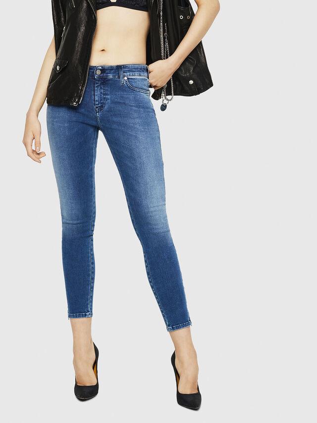 Diesel - Slandy Zip 084NM, Bleu moyen - Jeans - Image 1