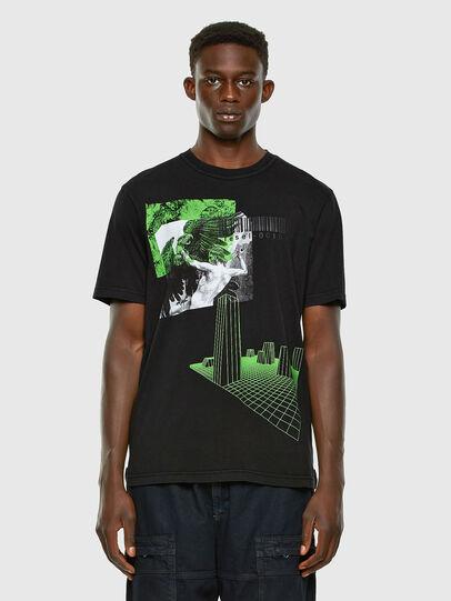Diesel - T-JUBIND-SLITS, Noir - T-Shirts - Image 4