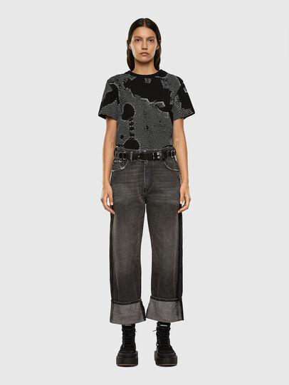 Diesel - T-DARIA-E4, Noir - T-Shirts - Image 4