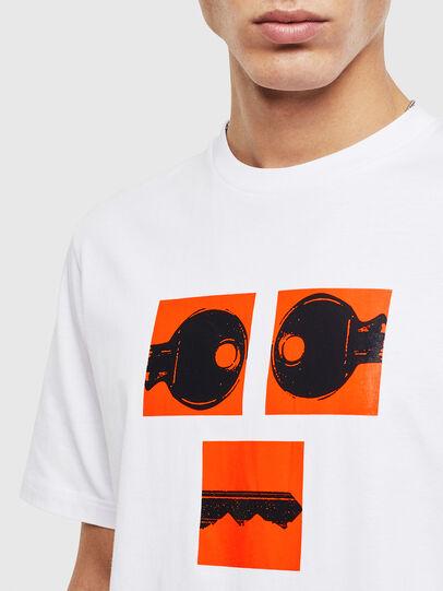 Diesel - T-JUST-T23, Blanc - T-Shirts - Image 5