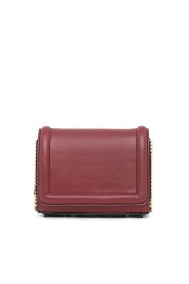 Petit sac à bandoulière orné de zips décoratifs