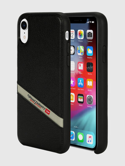 Diesel - DIESEL LEATHER CO-MOLD CASE FOR IPHONE XR, Noir - Coques - Image 1