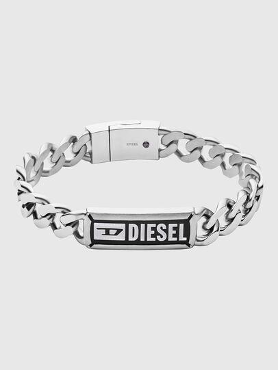Diesel - DX1243, Gris argenté - Bracelets - Image 1