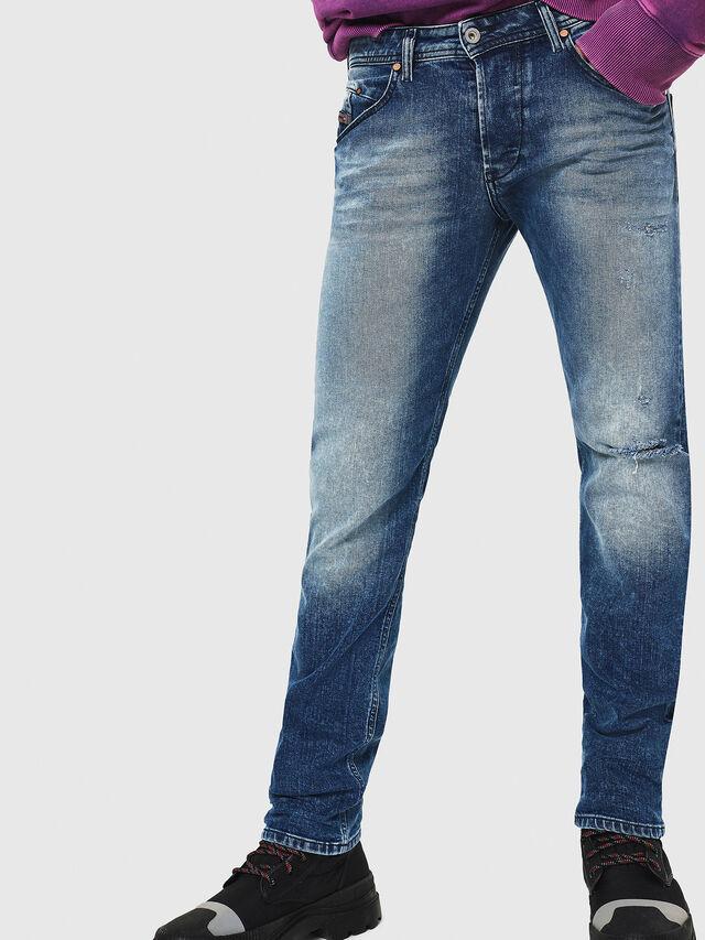 Diesel - Belther 081AQ, Bleu moyen - Jeans - Image 1