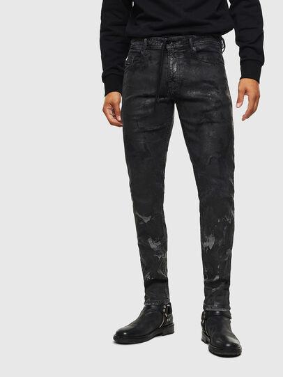 Diesel - Thommer JoggJeans 084AI, Noir/Gris foncé - Jeans - Image 1