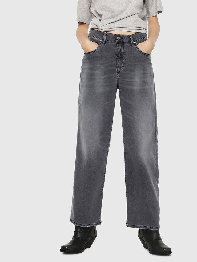 Diesel - Widee JoggJeans 069EH, Noir/Gris foncé - Jeans - Image 1