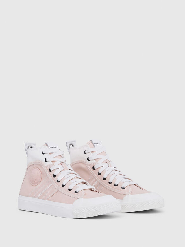 Diesel - S-ASTICO MID LACE W, Rose/Blanc - Baskets - Image 2