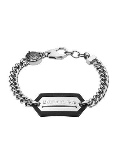 Diesel - BRACELET DX0992, Gris argenté - Bracelets - Image 1