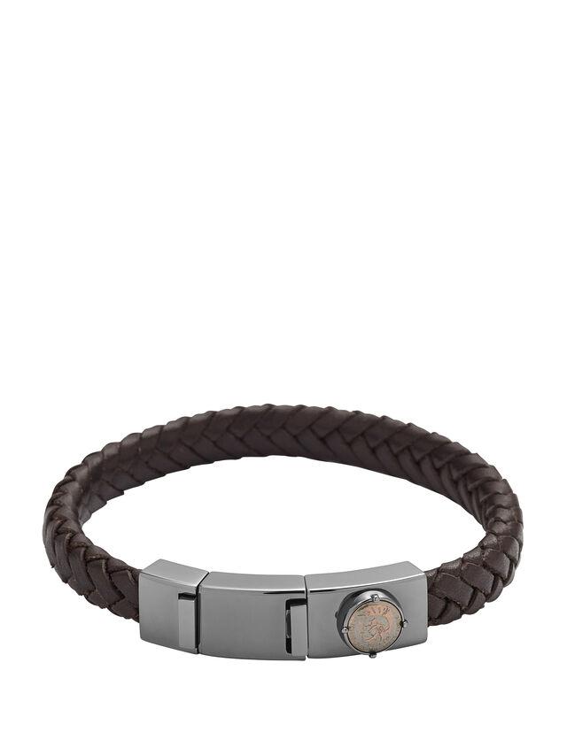 Diesel - BRACELET DX0856, Marron Foncé - Bracelets - Image 1