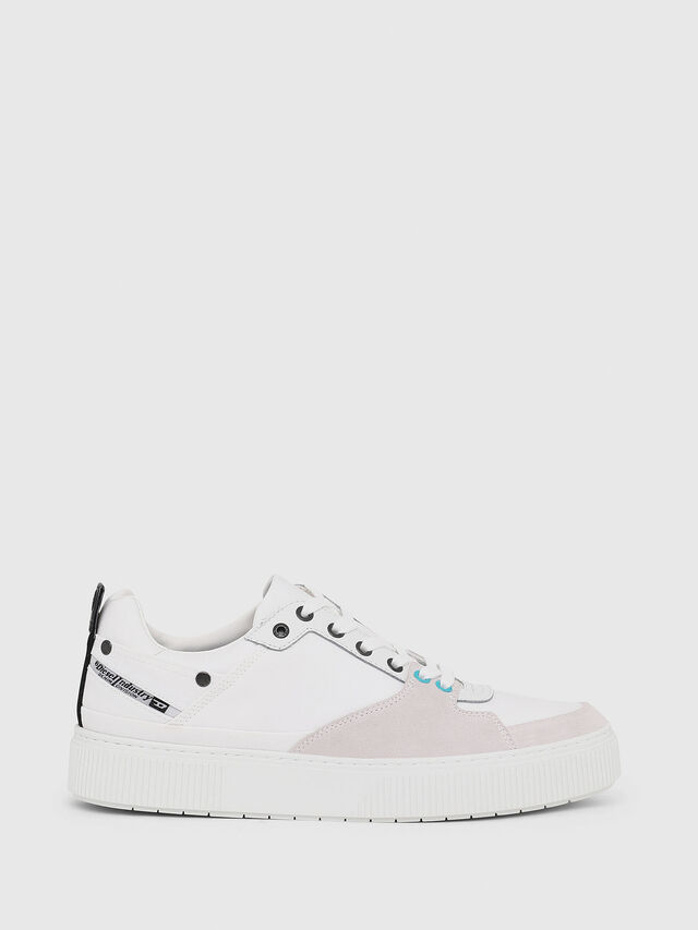 Diesel - S-DANNY LC, Blanc - Baskets - Image 1