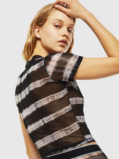 Diesel - UFTEE-ROUNDFEM-M, Noir/Blanc - T-Shirts - Image 2