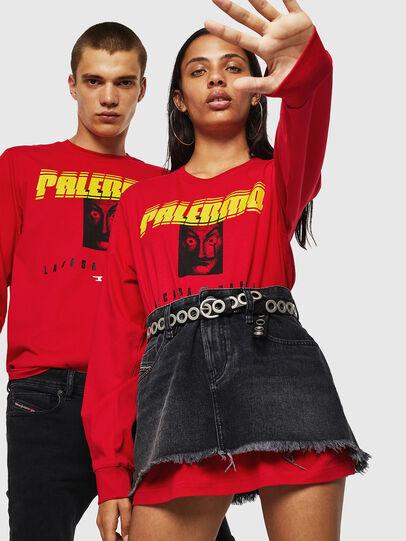 Diesel - LCP-T-JUST-LS-PALERM, Rouge - T-Shirts - Image 6