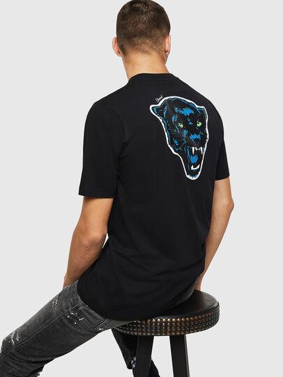 Diesel - T-JUST-B12, Noir - T-Shirts - Image 4