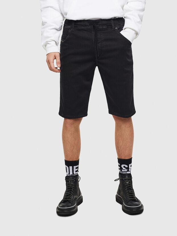 D-KROOSHORT JOGGJEANS, Noir/Gris foncé - Shorts