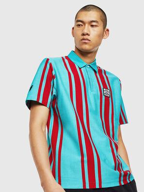 T-POLO-STRIP, Bleu/Rouge - Polos