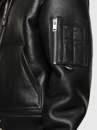 Diesel - L-ARNOLD, Noir - Vestes de cuir - Image 5